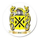Gril Round Car Magnet