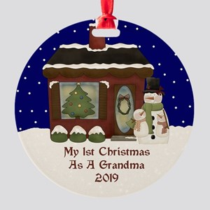 1St Christmas As A Grandma 2019 Ornament