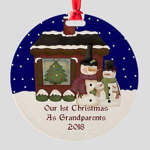 1St Christmas As Grandparents 2018 Ornament