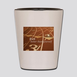 Runner's Mantra Shot Glass