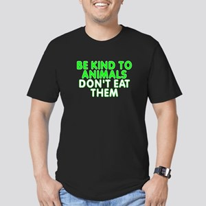 Be kind to animals - Men's Fitted T-Shirt (dark)