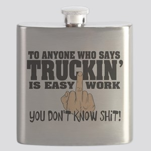 Trucking Middle Finger Flask