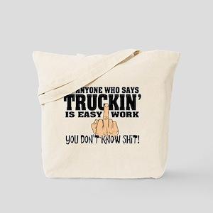 Trucking Middle Finger Tote Bag
