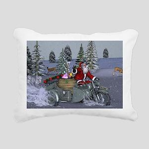 Dashing Through The Snow Rectangular Canvas Pillow
