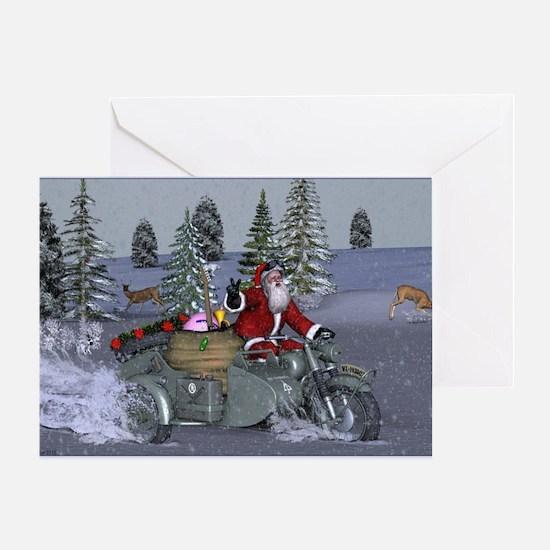 Dashing Through The Snow Greeting Cards