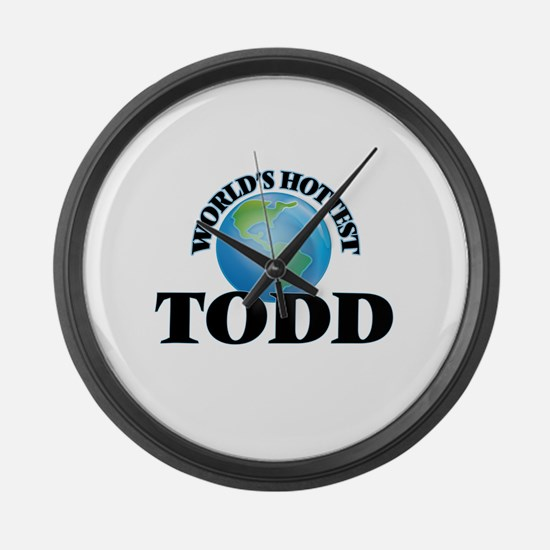World's hottest Todd Large Wall Clock