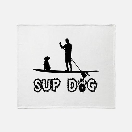 SUP Dog-Dude Throw Blanket