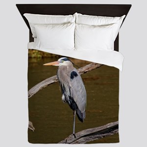 GREAT BLUE HERON Queen Duvet