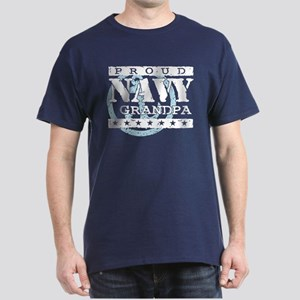 Proud Navy Grandpa Dark T-Shirt