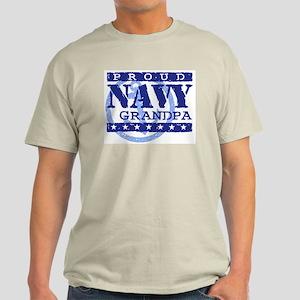 Proud Navy Grandpa Light T-Shirt