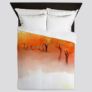 Unbelievable Autumn Landscape Queen Duvet