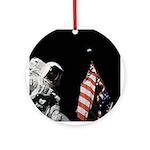 Apollo 17 Space Christmas Tree Ornament (Round)