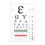 IPA Eye Chart Mini Poster Print