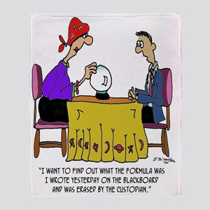 Math Cartoon 6487 Throw Blanket
