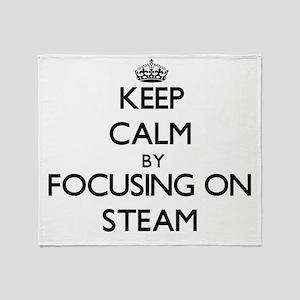 Keep Calm by focusing on Steam Throw Blanket