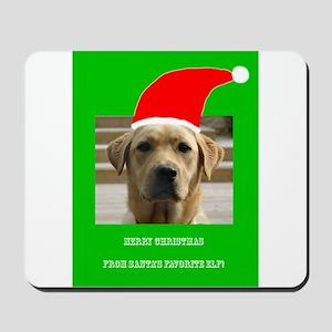 Santas Favorite Elf Labrador Christmas C Mousepad