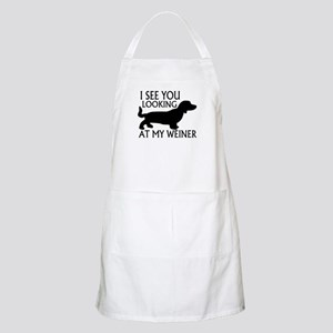 Looking At My Weiner Apron