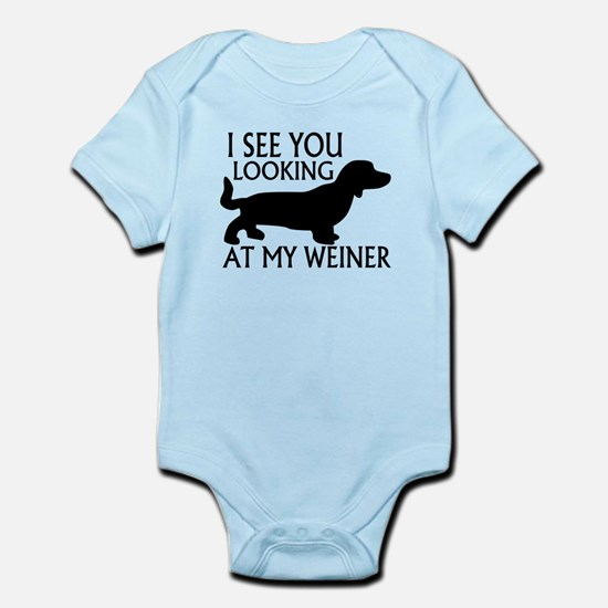 Looking At My Weiner Infant Bodysuit