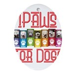 iPaws for Dogs Ornament (Oval)