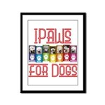 iPaws for Dogs Framed Panel Print