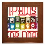 iPaws for Dogs Framed Tile