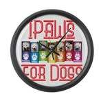 iPaws for Dogs Large Wall Clock