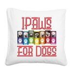 iPaws for Dogs Square Canvas Pillow
