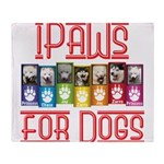 iPaws for Dogs Throw Blanket