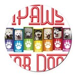 iPaws for Dogs Round Car Magnet