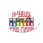 iPaws for Dogs Oval Car Magnet