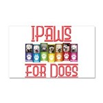 iPaws for Dogs Car Magnet 20 x 12