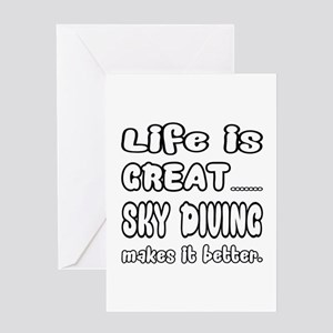 Life is Great.. Sky Diving Makes it Greeting Card