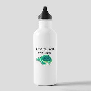 I Love My Aunt Turtle Water Bottle