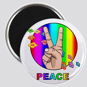 Colorful Peace Symbol Magnet