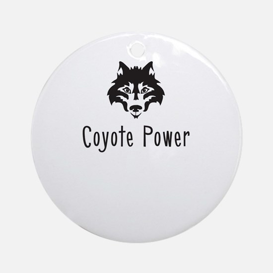 Coyote Power Ornament (Round)