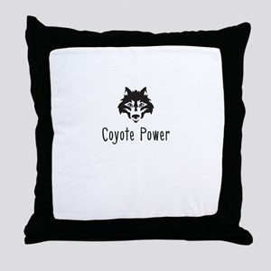 Coyote Power Throw Pillow