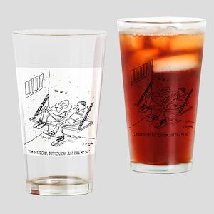 Prison Cartoon 3826 Drinking Glass