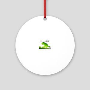 t-rex hates cpr Ornament (Round)