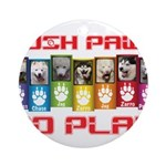 Push PAWS To Play Ornament (Round)