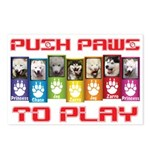 Push PAWS To Play Postcards (Package of 8)