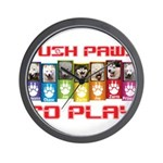 Push PAWS To Play Wall Clock