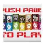 Push PAWS To Play Tile Coaster