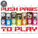 Push PAWS To Play Puzzle