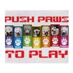 Push PAWS To Play Throw Blanket