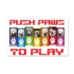 Push PAWS To Play Wall Decal