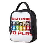 Push PAWS To Play Neoprene Lunch Bag