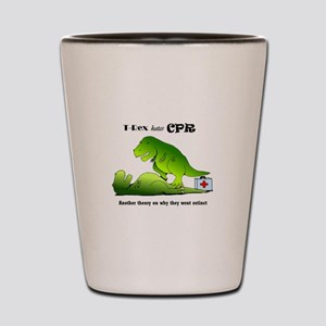 t-rex hates cpr Shot Glass