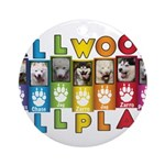 All WOOF All PLAY Ornament (Round)