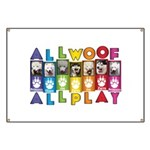 All WOOF All PLAY Banner