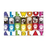 All WOOF All PLAY Wall Decal